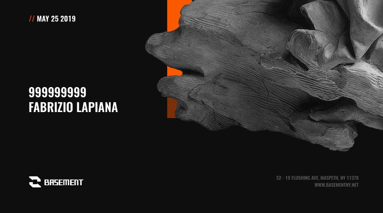 999999999 / Fabrizio Lapiana - Flyer front