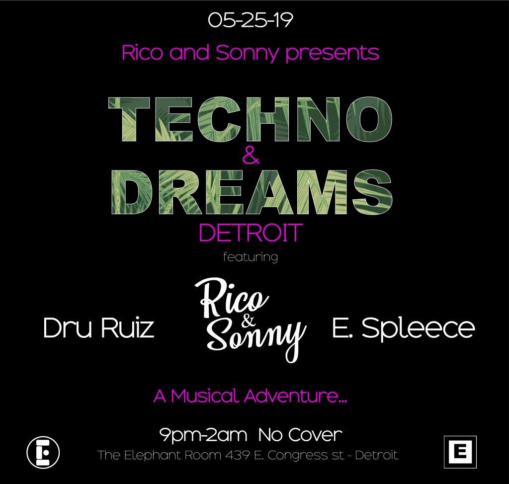 Techno & Dreams: Detroit - Flyer front