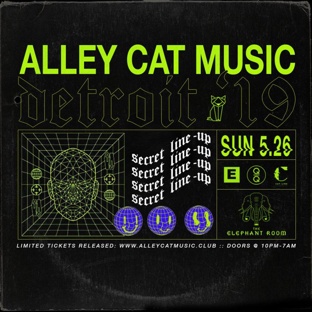 Alley Cat Music: Detroit '19 - Flyer front
