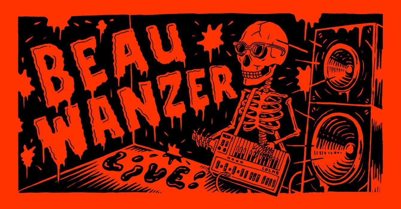 Beau Wanzer (Live), Antepop, Usunov - Flyer front
