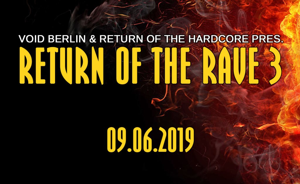 Return of the Rave - Flyer front