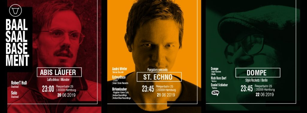 Purgatory presents: St. Echno with André Winter - Flyer front
