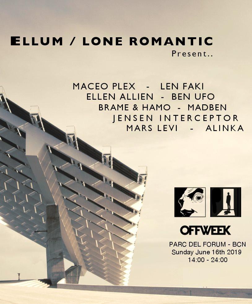 Maceo Plex Pres. Ellum with Len Faki,Ellen Allien,Ben Ufo I Off Week Festival - Flyer front