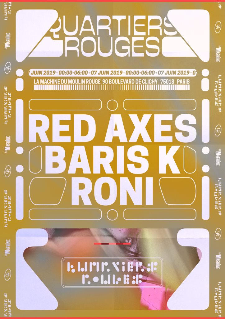 Quartiers Rouges: Red Axes, Baris K, Roni - Flyer front