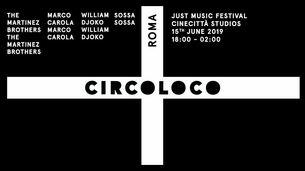 Circoloco Roma / Just Music Festival - Flyer front