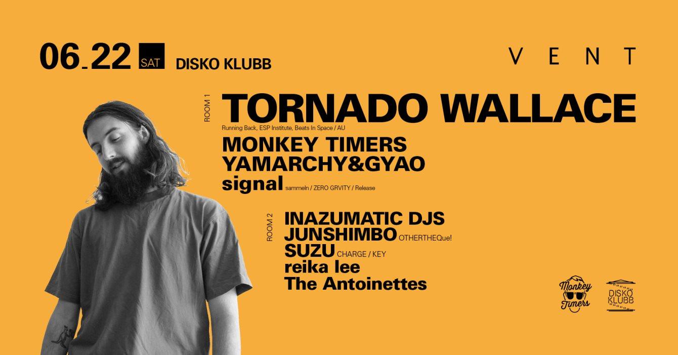 Tornado Wallace at Disko Klubb - Flyer front