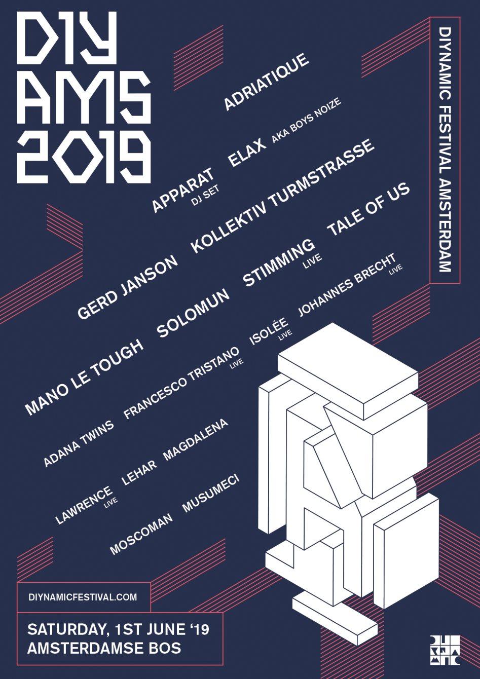 Diynamic Festival Amsterdam 2019 - Flyer front