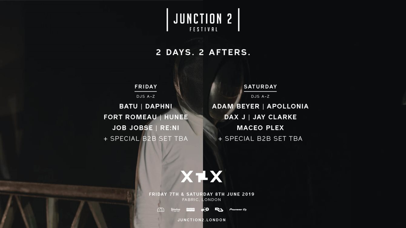 Junction 2 Afters: Adam Beyer B2B Maceo Plex, Dax J, Apollonia & More - Flyer front