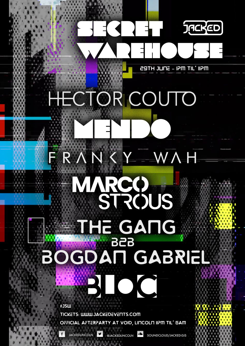 Jacked Warehouse feat. Hector Couto - Mendo - Franky Wah - Marco Strous - The Gang - Flyer back