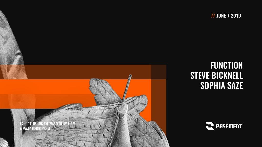 Function / Steve Bicknell / Sophia Saze - Flyer front
