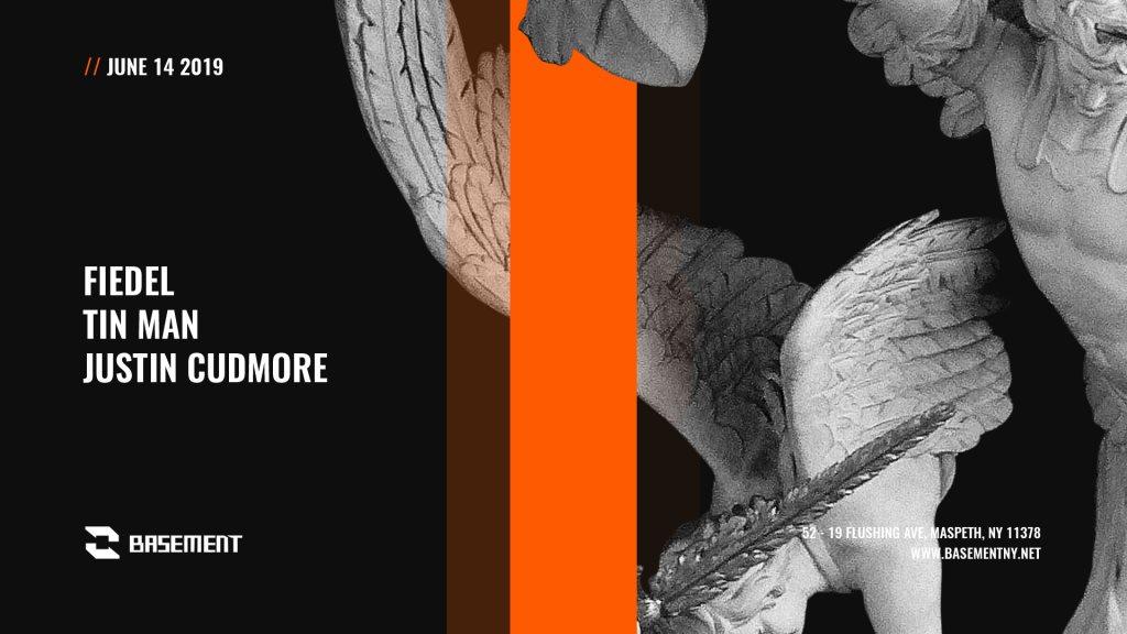 Fiedel / Tin Man / Justin Cudmore - Flyer front