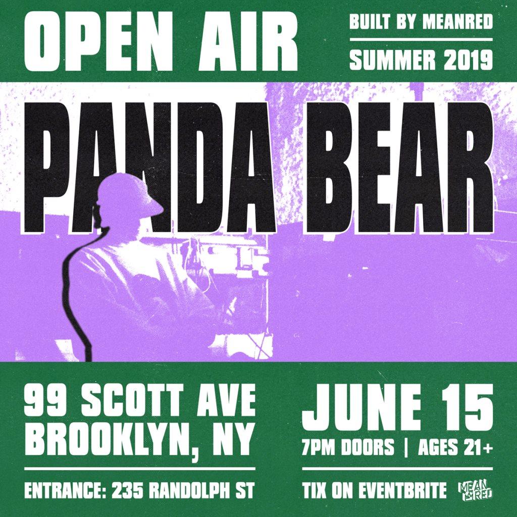 Panda Bear - Flyer front