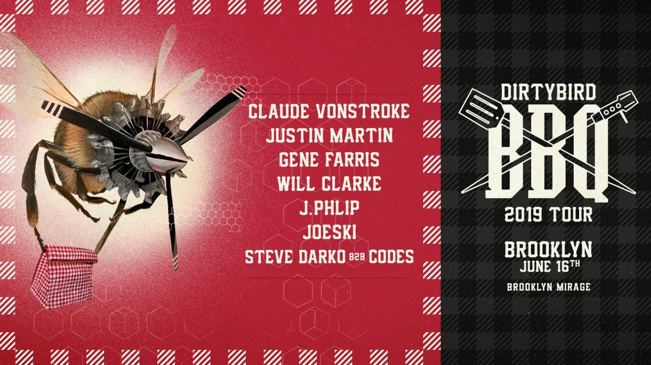 Dirtybird BBQ - Brooklyn (Claude Vonstroke, Justin Martin, Gene Farris & More) - Flyer front