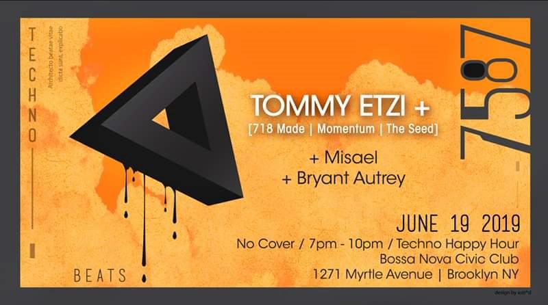 7587 presents // Tommy Etzi - Flyer front