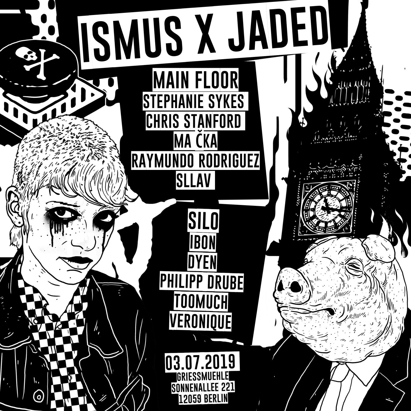 Summer Camp: Ismus x Jaded - Flyer front
