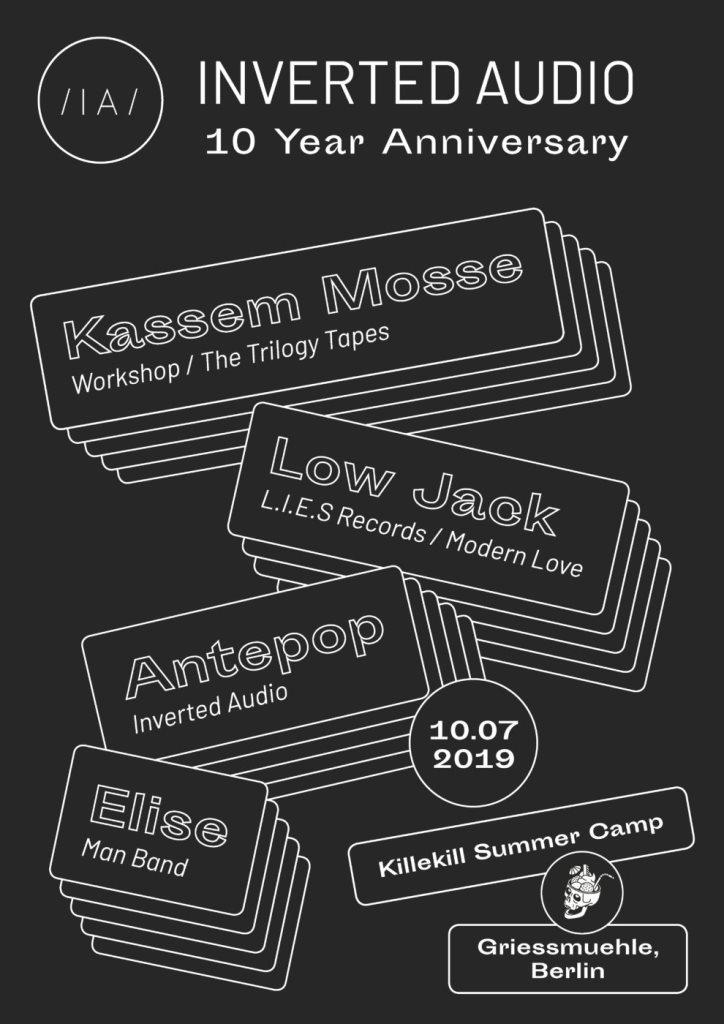 10 Years of Inverted Audio: Kassem Mosse, Low Jack, Antepop, Elise - Flyer back