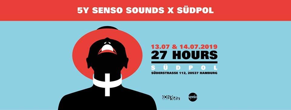 5Y Senso Sounds X Südpol Hamburg - Flyer front