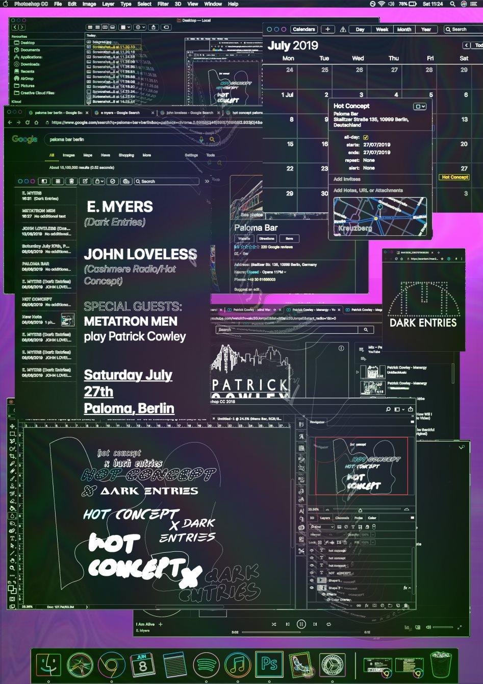 Hot Concept X Dark Entries - Flyer front
