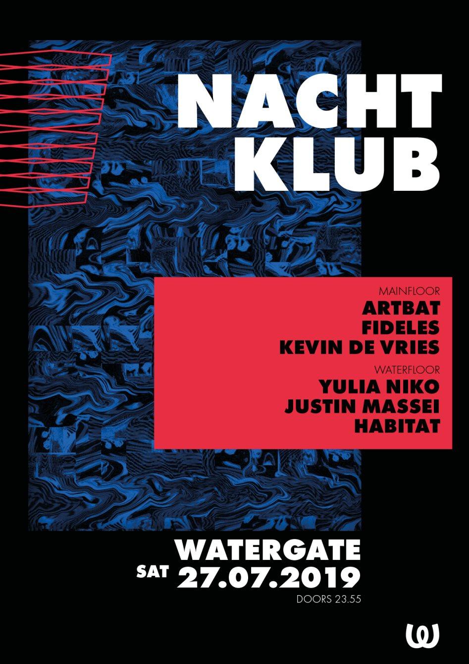 Nachtklub with Artbat, Fideles, Kevin de Vries, Yulia Niko, Justin Massei, Habitat - Flyer front