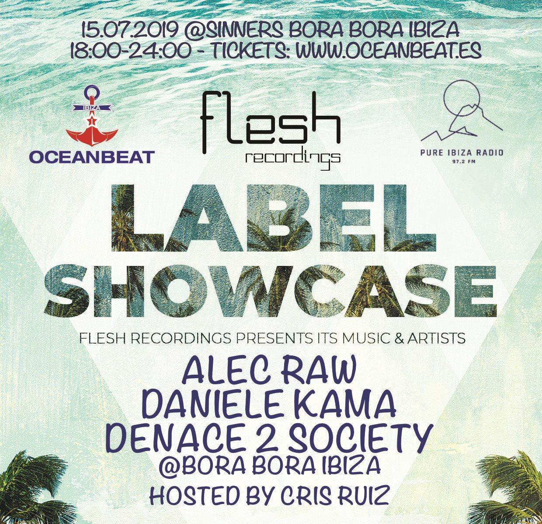 Flesh Label Showcase @Sinners Bora Bora - Flyer front