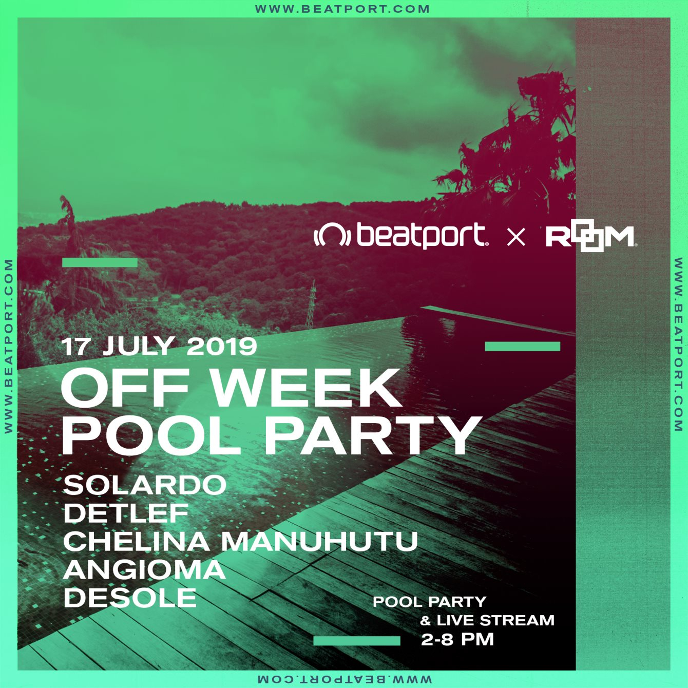 Pool Party Room Lab X Beatport Off Week - Flyer front