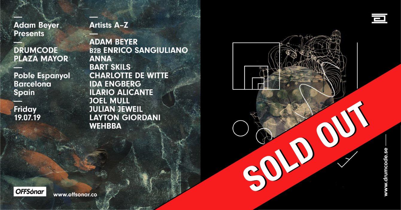 ***Sold Out*** Drumcode OFFSónar by Adam Beyer - Flyer front
