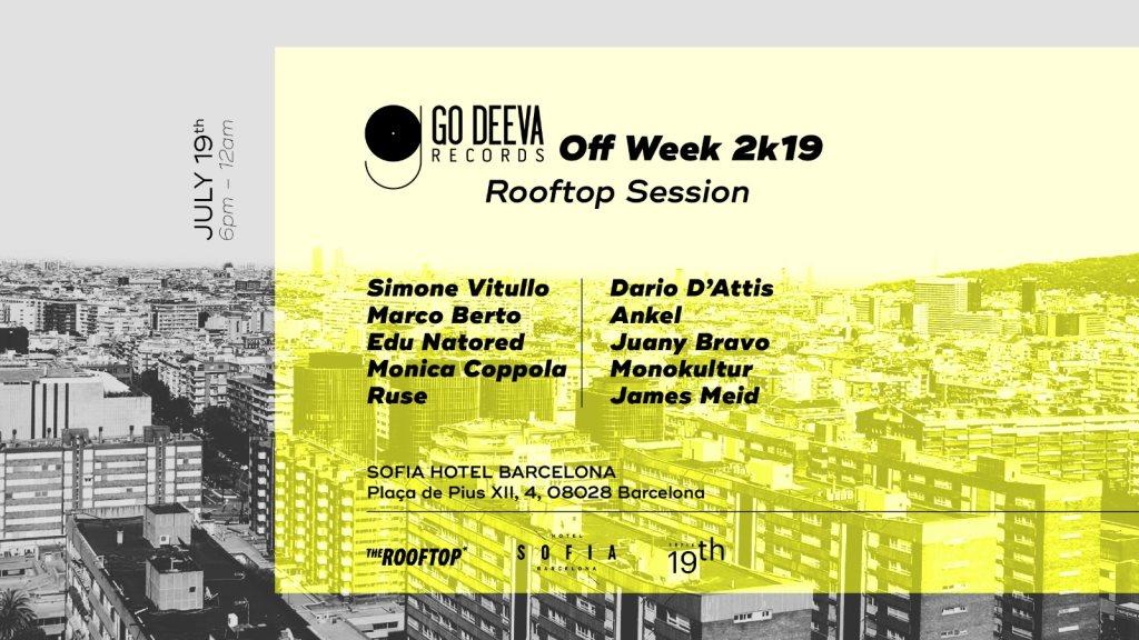 Go Deeva x The Rooftop - Flyer front