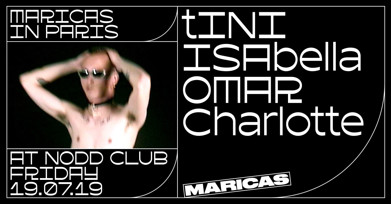 Maricas in Paris - tINI / ISAbella / Omar / Charlotte - Flyer front