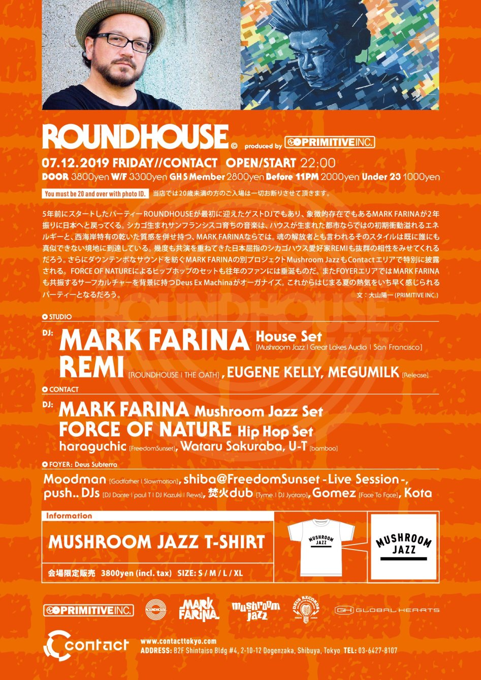 Roundhouse Feat. Mark Farina - Flyer back