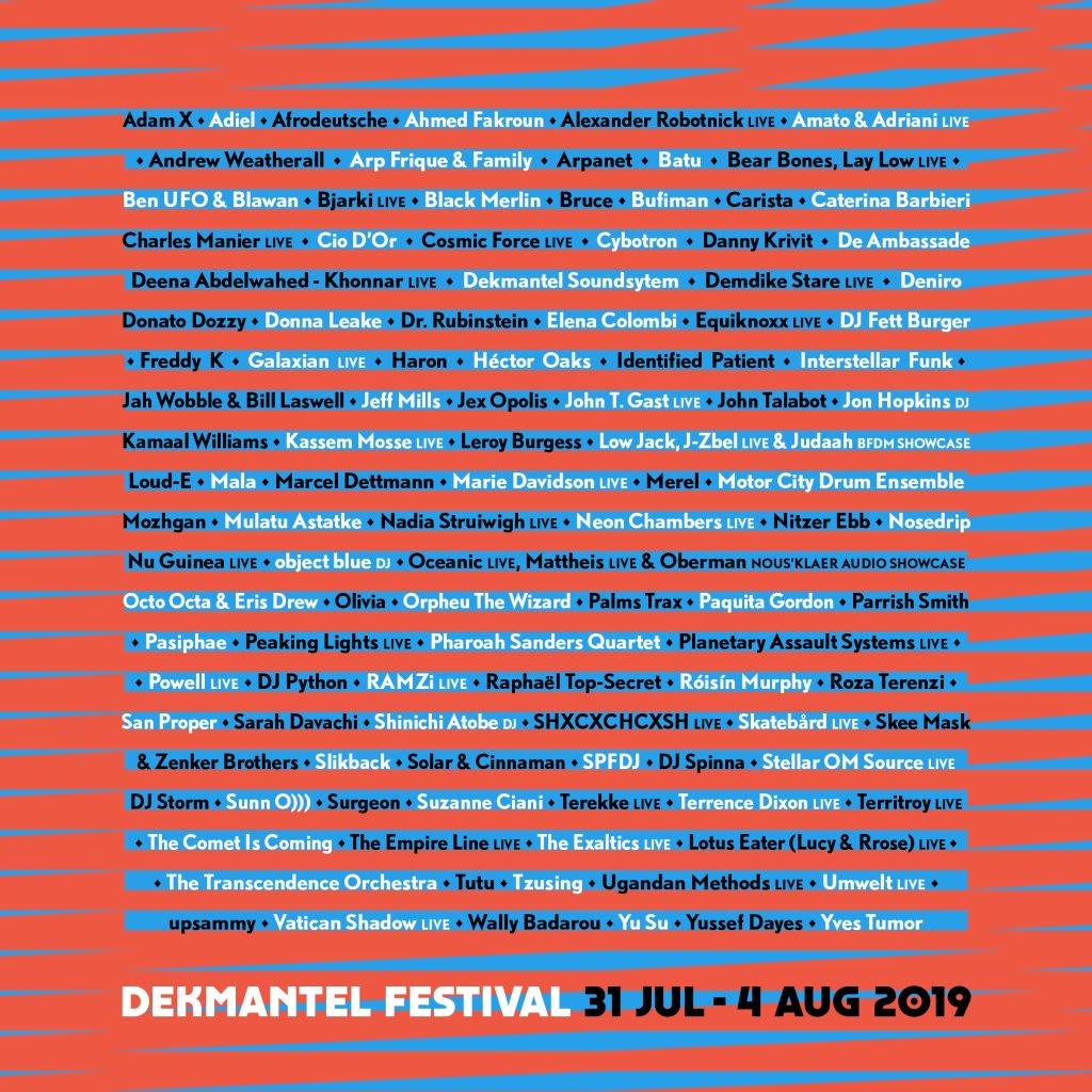 Dekmantel Festival 2019 - Flyer back