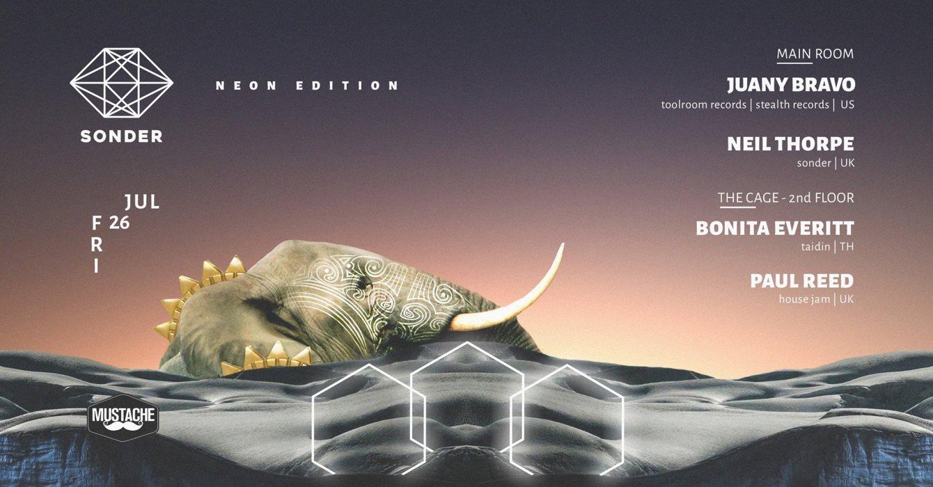 Sonder - Neon Edition feat. Juany Bravo, NT, B Everitt - Flyer front
