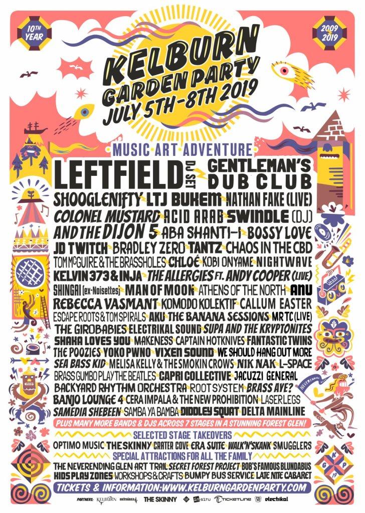 Kelburn Garden Party 2019 - Flyer front