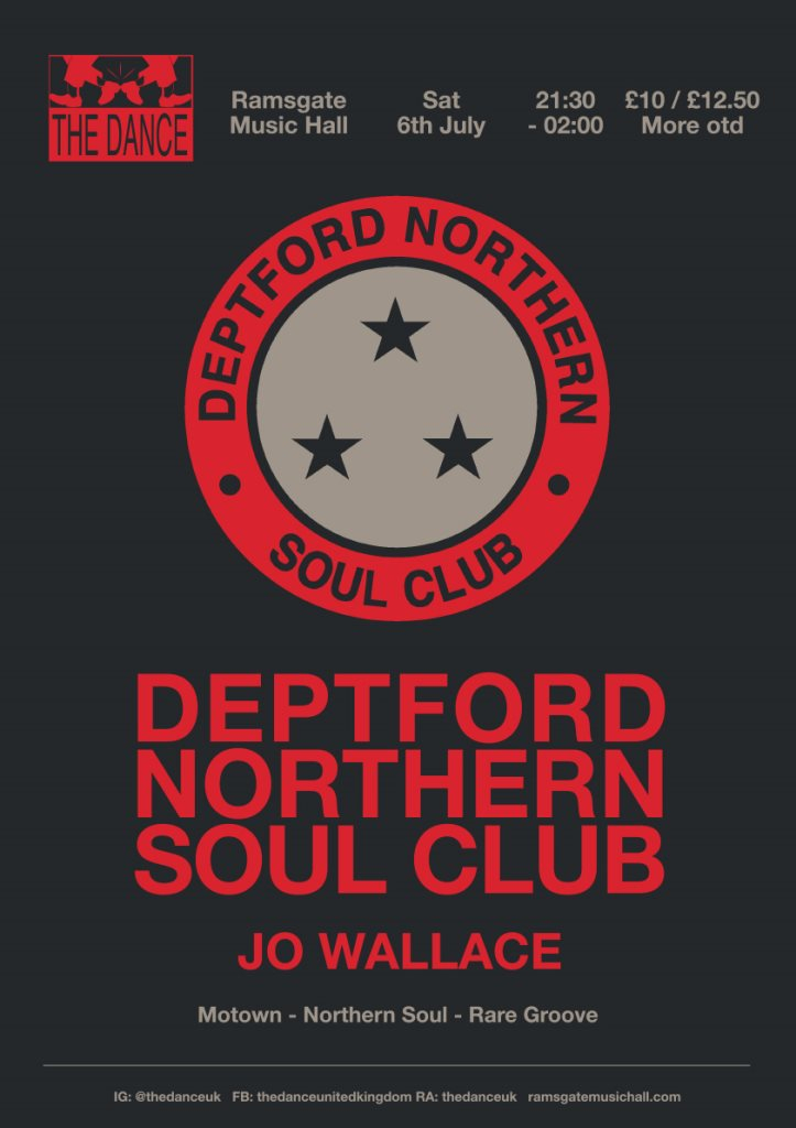 The Dance with Deptford Northern Soul Club - Flyer front