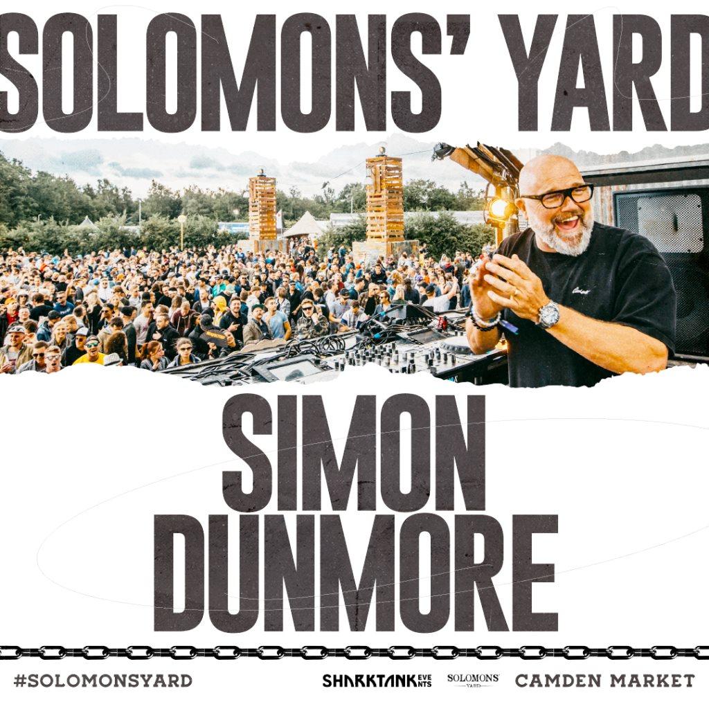 Solomons' Yard presents: Simon Dunmore - Flyer front