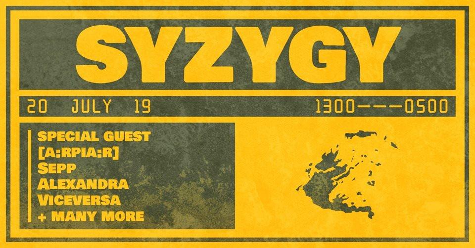 Syzygy 002 - Petre Inspirescu, Sepp, Alexandra, Viceversa & More TBA - Flyer front