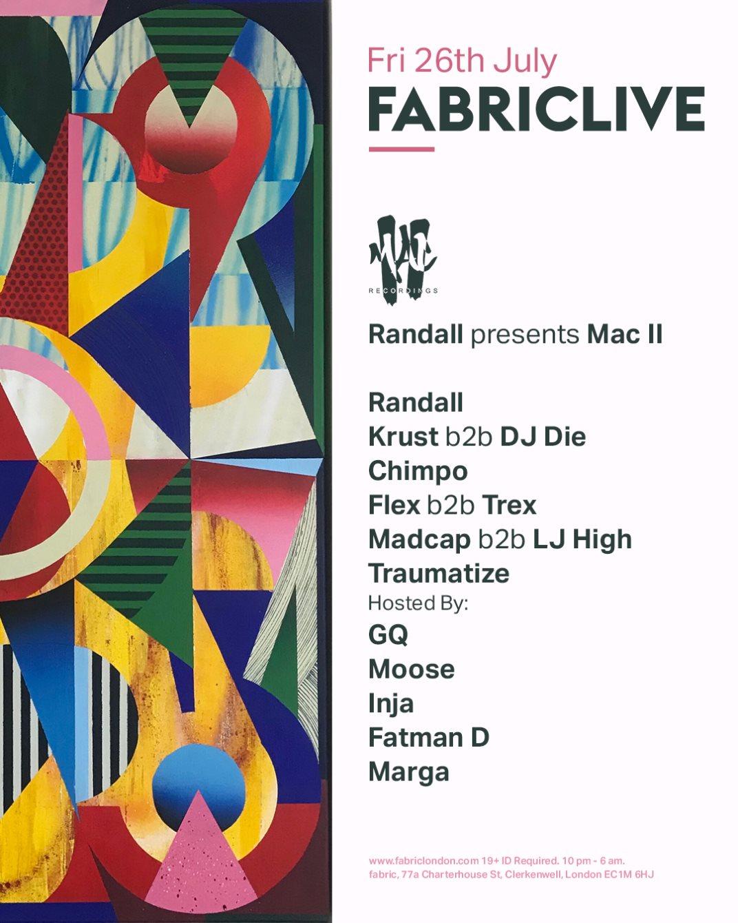 FABRICLIVE x Randall presents Mac II - Flyer back