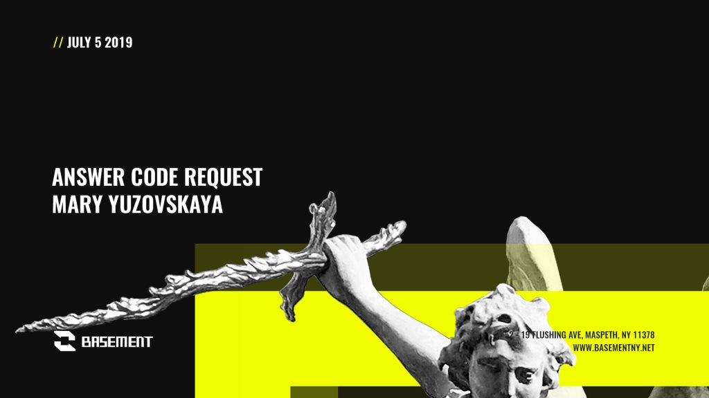 Answer Code Request / Mary Yuzovskaya - Flyer front