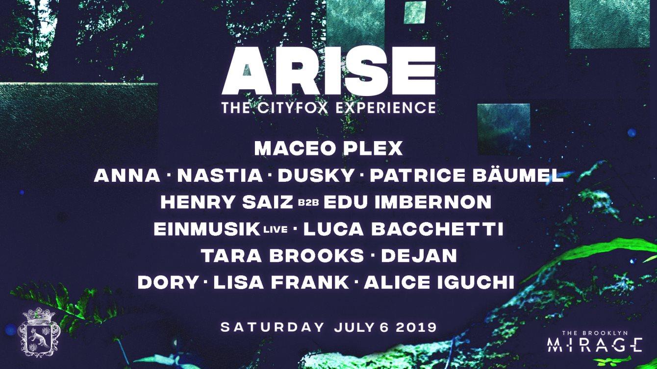 Cityfox Arise: Maceo Plex, ANNA, Nastia, Dusky, Patrice Bäumel & More - Flyer front