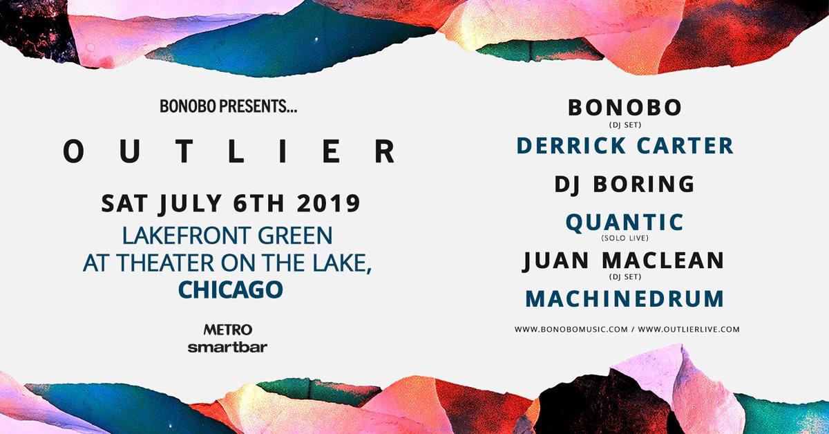 Bonobo presents Outlier with Derrick Carter, DJ Boring, Quantic, & More - Flyer front