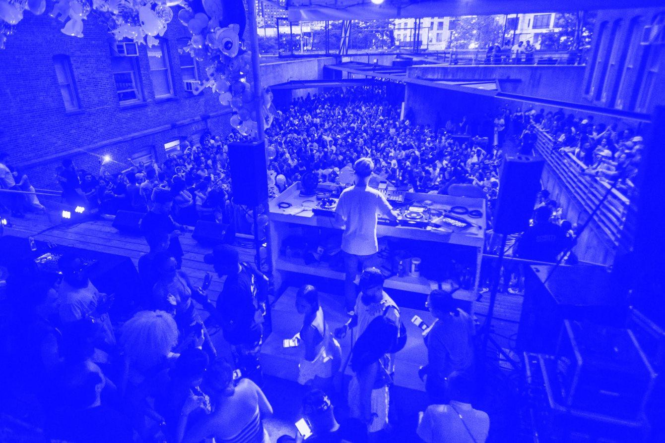 Warm Up: DJ Blass / Equiknoxx/ Mark Ernestus / Mina / BAD Gyal / Ms. Nina / Lil C - Flyer front