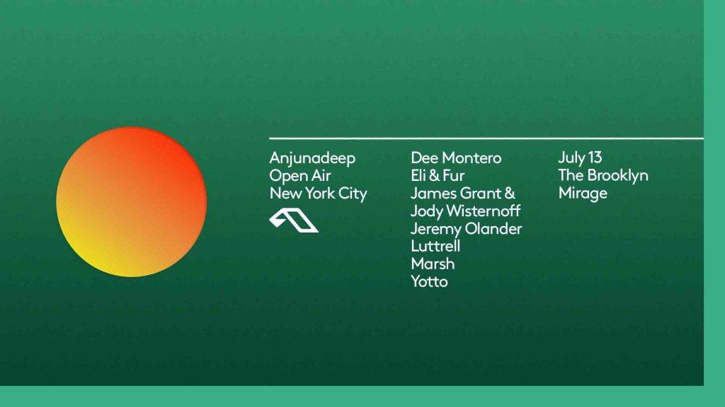 Anjunadeep Open Air: New York City - Flyer front