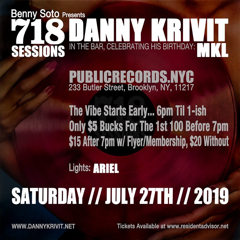 718 Sessions with Danny Krivit & MKL-Public Records - Flyer back