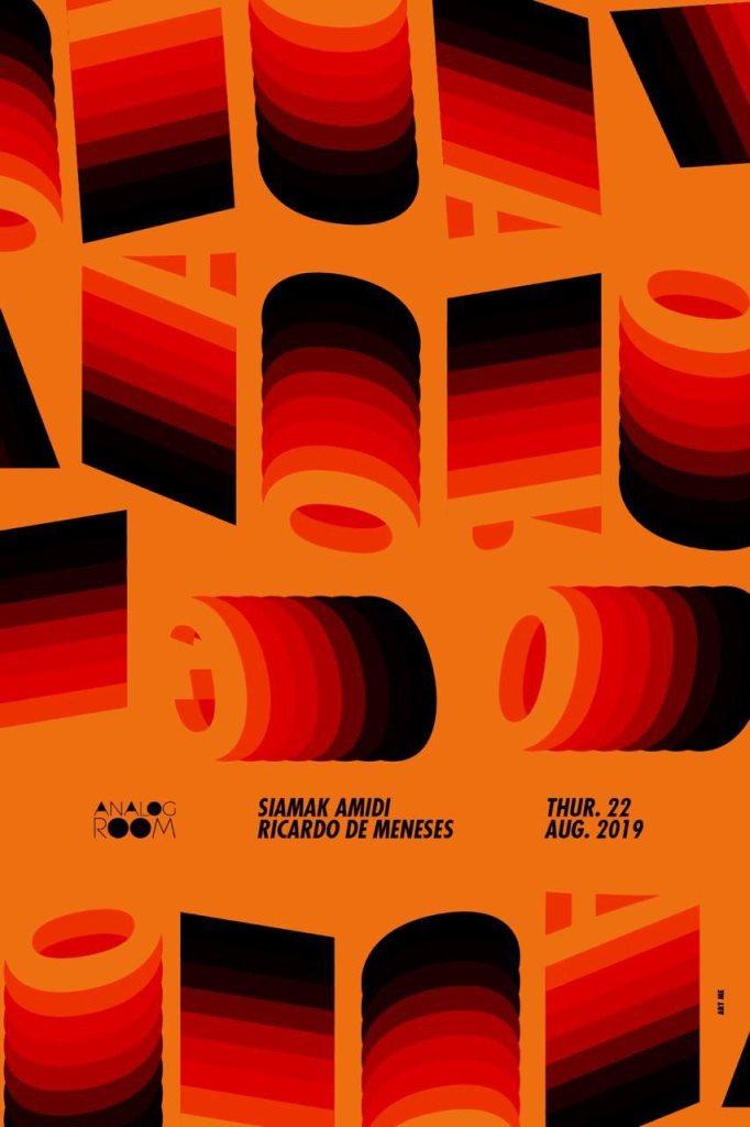 Analog Room presents: Siamak Amidi / Ricardo De Meneses - Flyer front