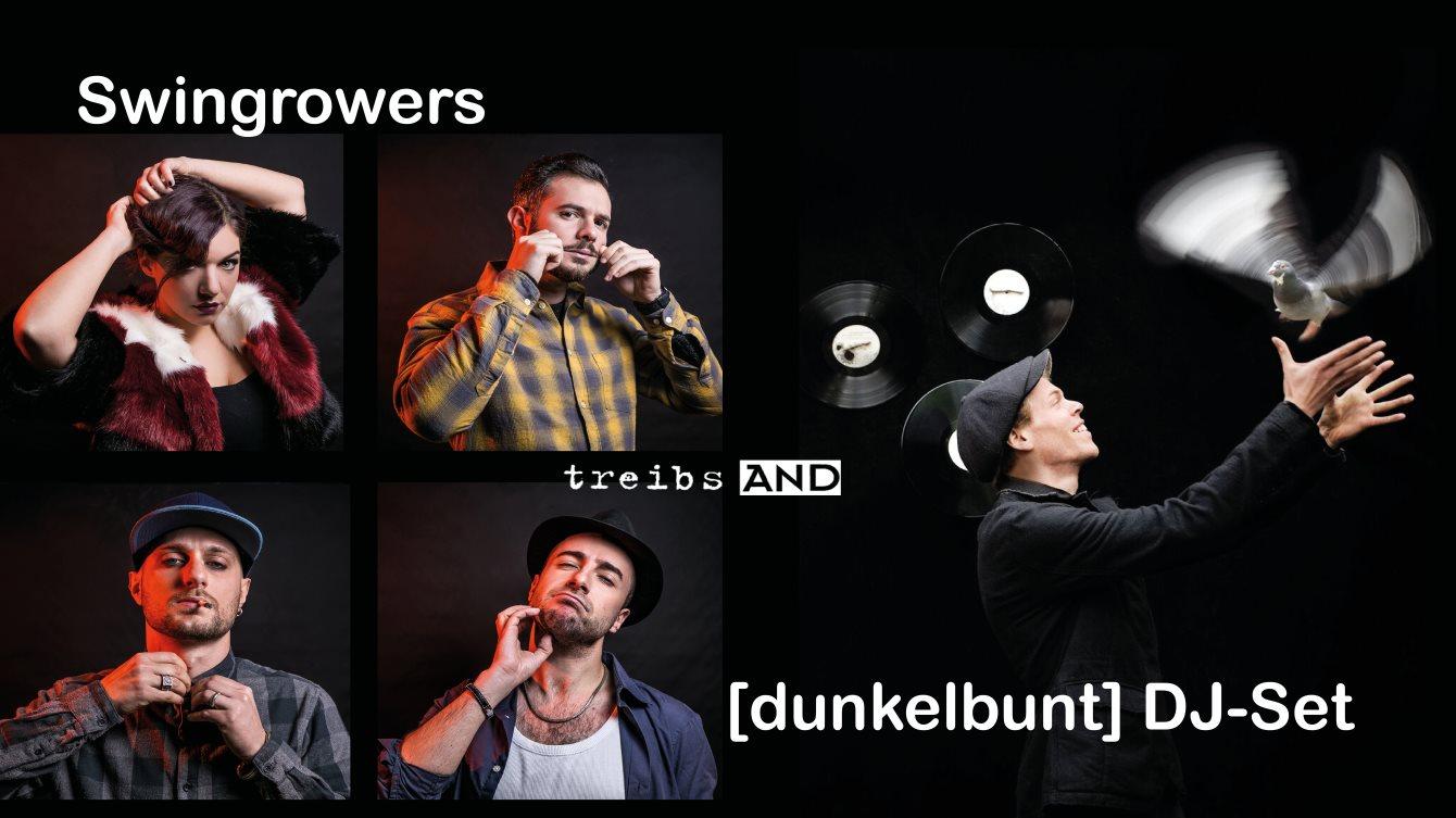 Swingrowers und [dunkelbunt] DJ Set - Flyer front