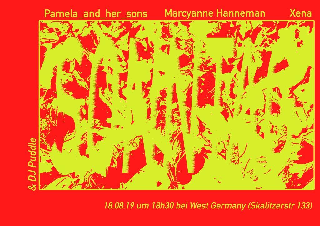 Pamela and her Sons / Marcyanne Hanneman / Xena - Flyer front