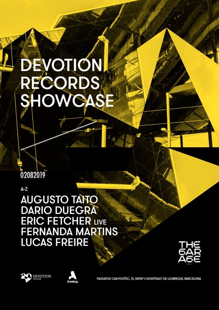 Devotion Records Showcase - Flyer front