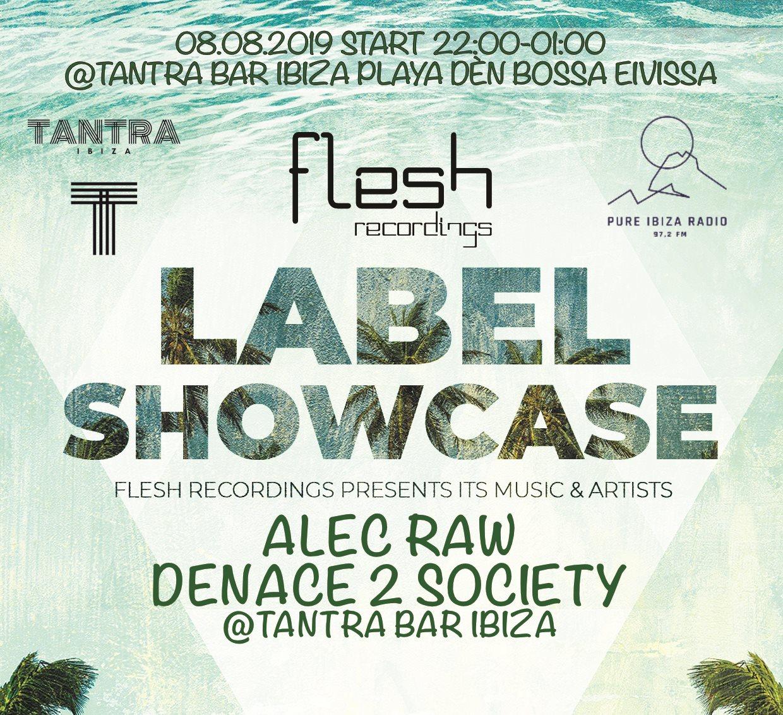 Flesh Recordings Label Showcase - Flyer front