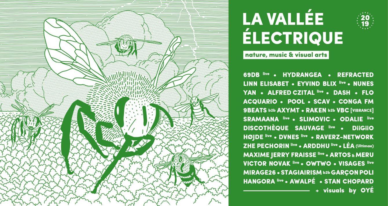 La Vallée Électrique 2019 - Flyer front