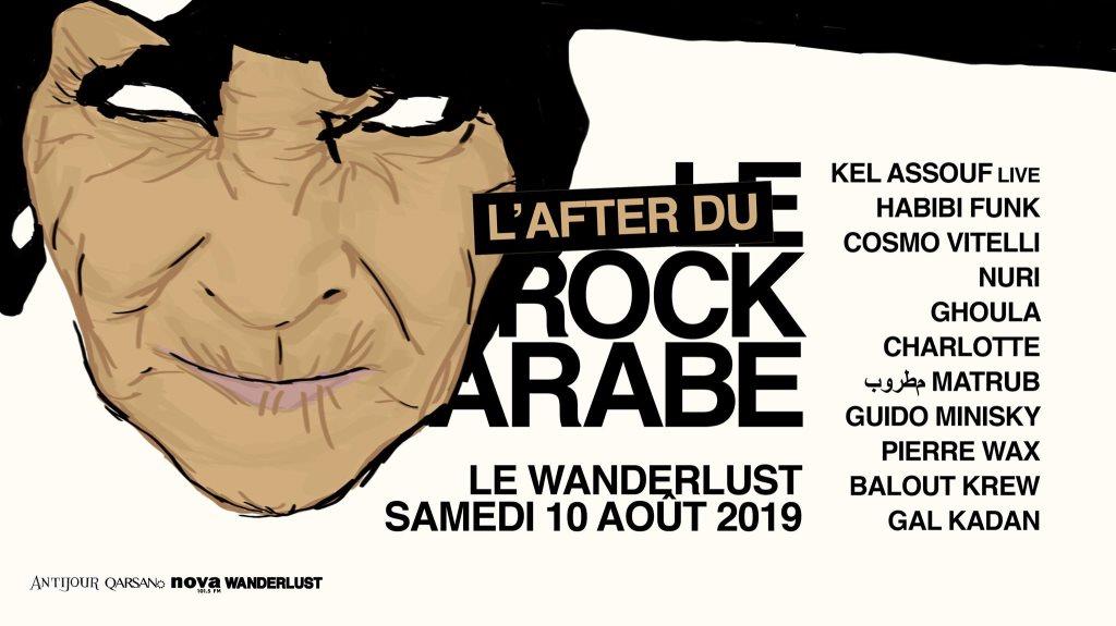 Le Rock Arabe • L'after au wanderlust / Open air - Flyer front