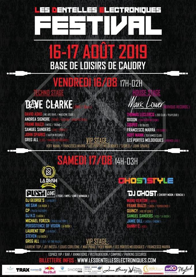 Les Dentelles Electroniques Festival 2019 - Flyer back